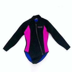 SEAQUEST Women's Blk Long Sleeve Full Zip Wetsuit